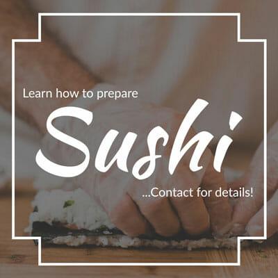 Grates Cove Studios Sushi Promotion